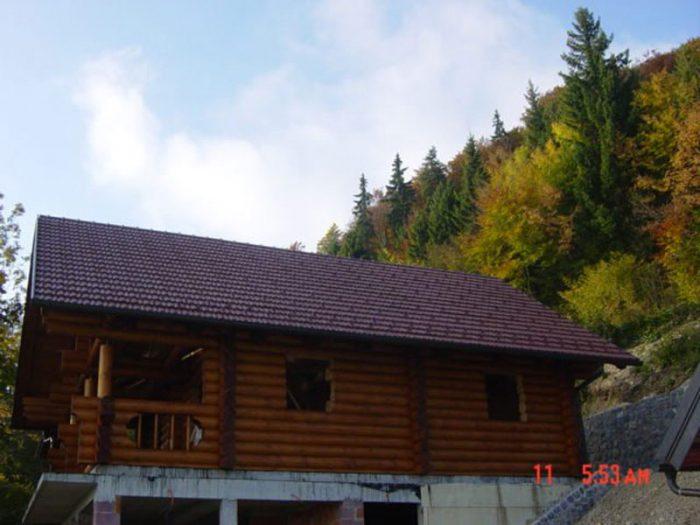 Lesena brunarica na Belviju