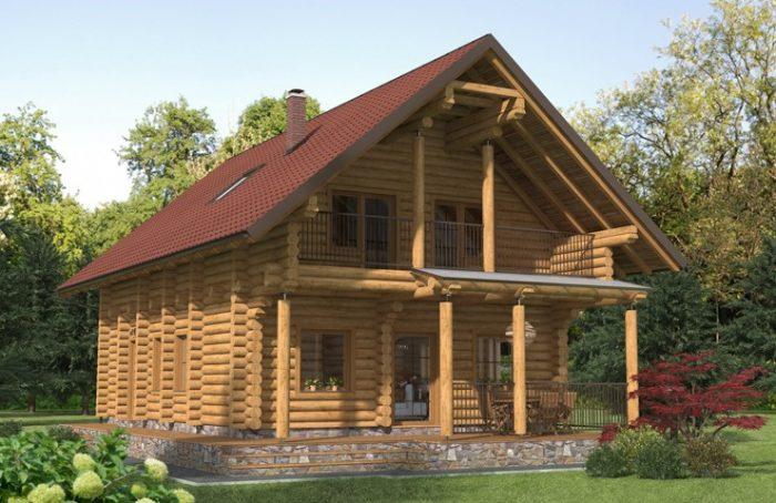 Tipska lesena brunarica Gričnik